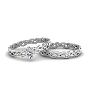 Braided Solitaire Bridal Set