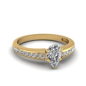 Simple Channel Set Diamond Ring