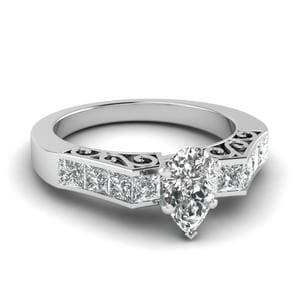 Platinum Filigree Diamond Ring