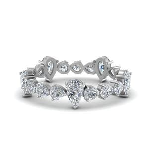 Pear Diamond Eternity Band 2.5 Carat
