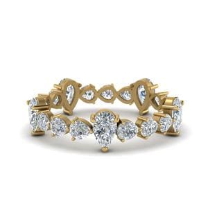 Pear Shaped Eternity Band 2.5 Carat
