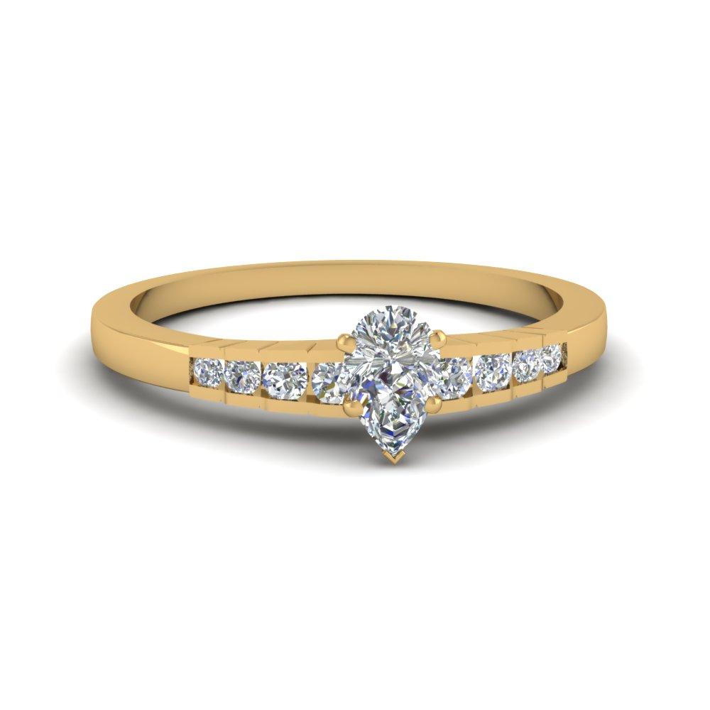 Pear Diamond Simple Petite Ring