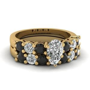Black Diamond Ring With Band