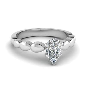 Drain Drop Solitaire Ring