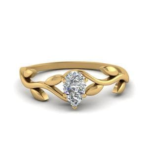 Nature Pear Shaped Ring