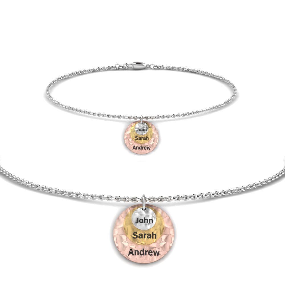 Personalized Charm Bracelet With Name In 14K White Gold