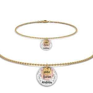 Personalized Charm Bracelet With Name In 14K Yellow Gold