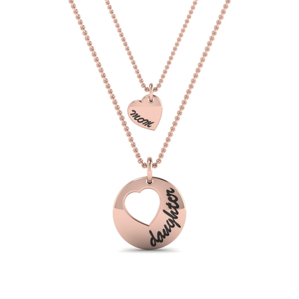 14K Rose Gold Personalized Necklace