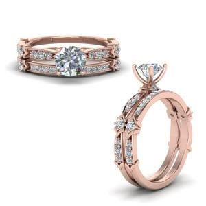Petite Pave Diamond Bridal Set