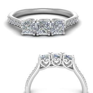 Petite Princess Cut Wedding Band