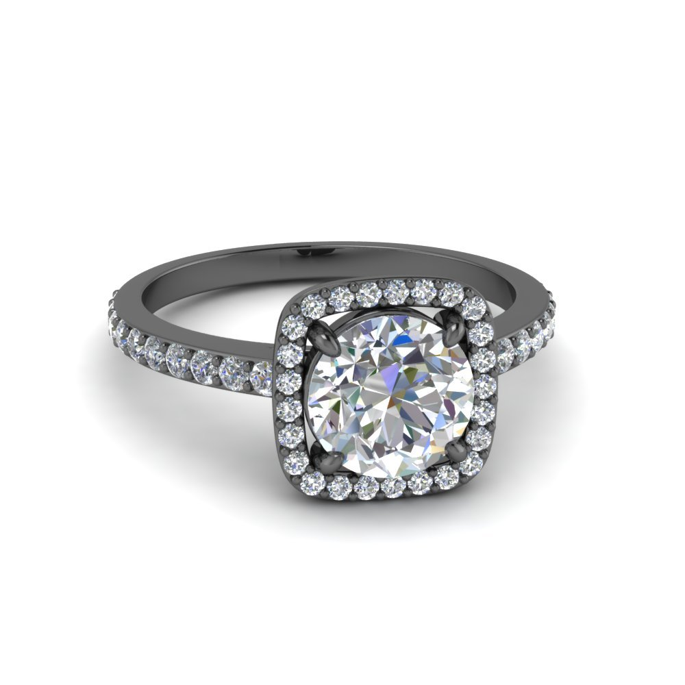 Petite Square Halo Diamond Ring