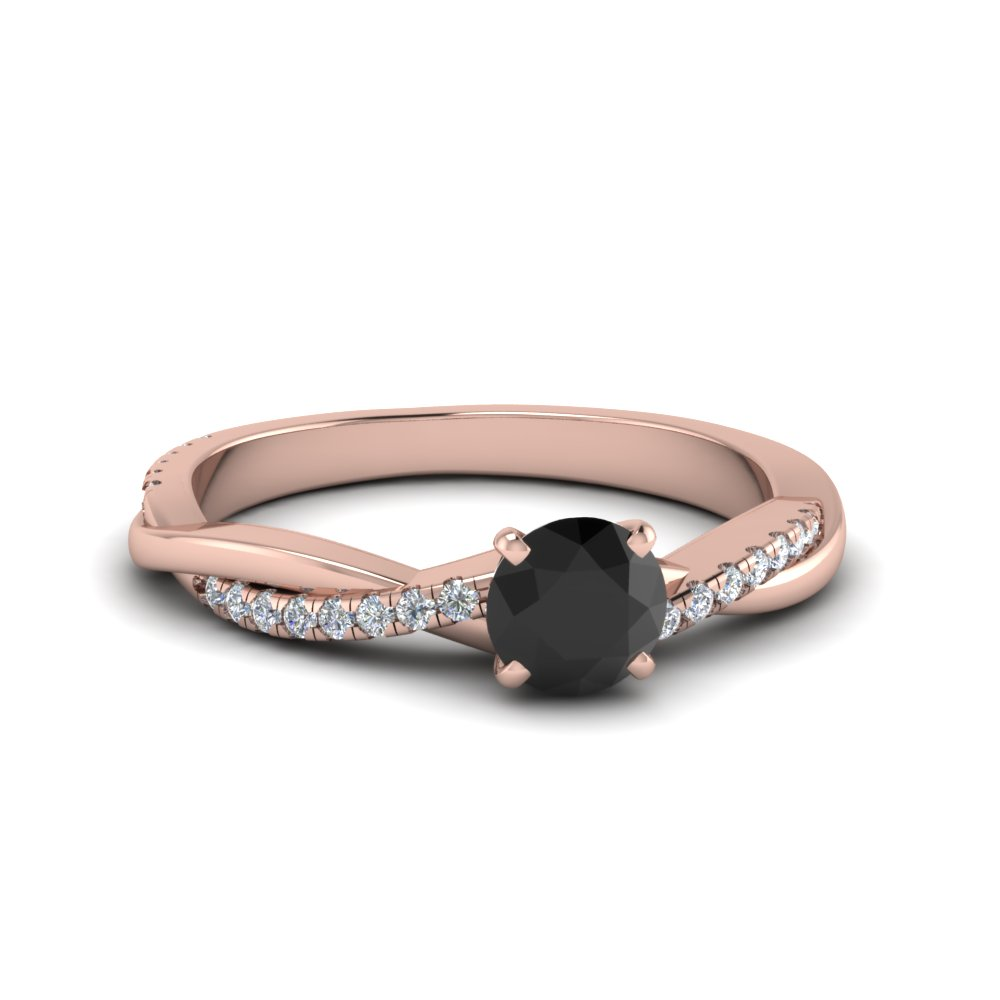 Petite Black Diamond Engagement Ring