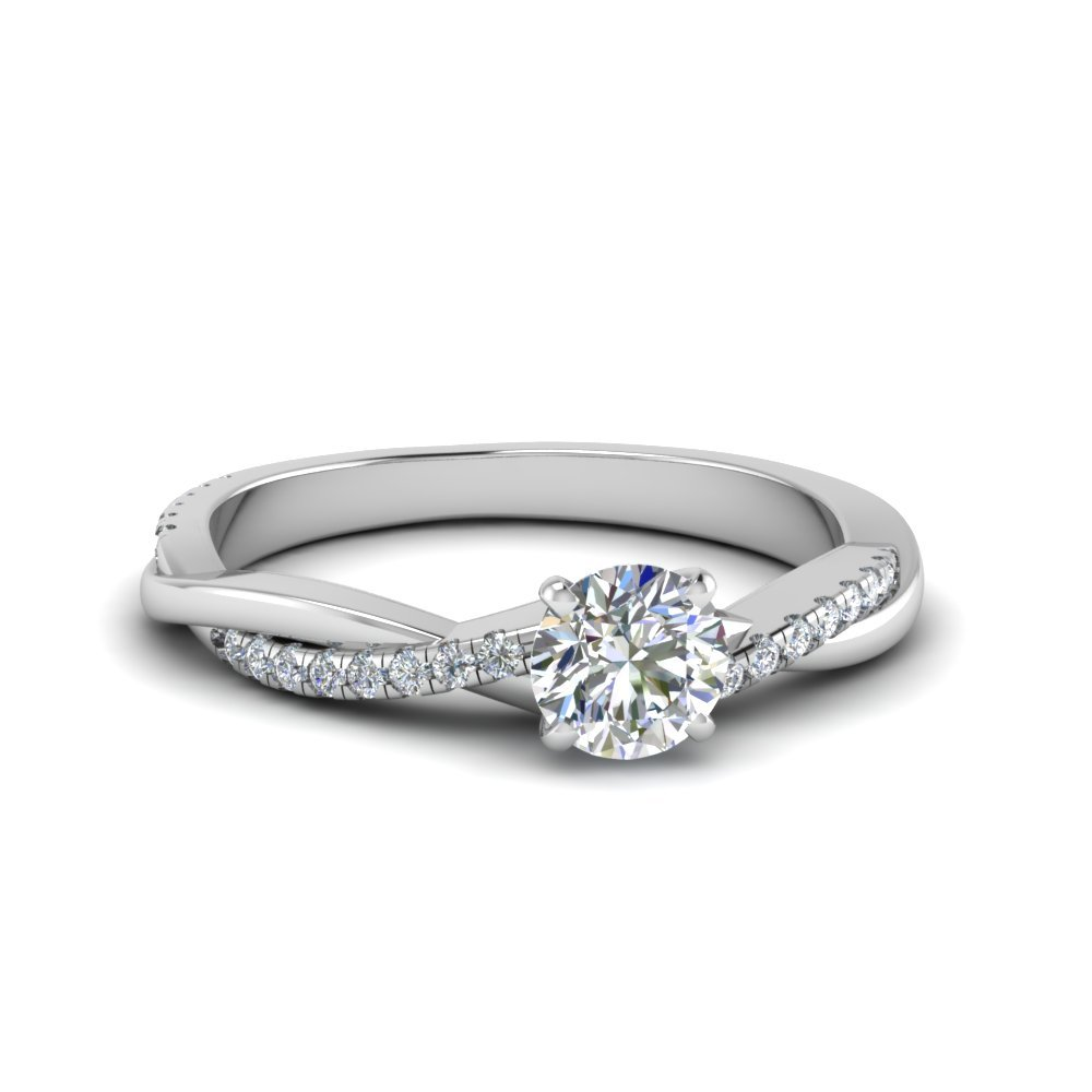 Petite Twisted Engagement Ring