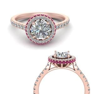 Pink Sapphire Cathedral Ring