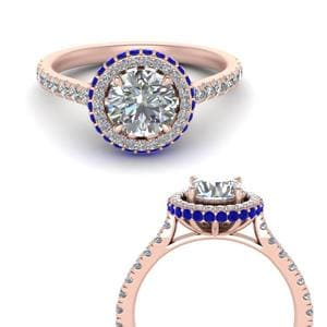 Petite Under Halo Engagement Ring