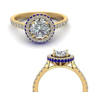 Petite Under Halo Sapphire Ring