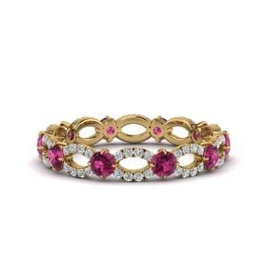 Infinity Pink Sapphire Eternity Ring