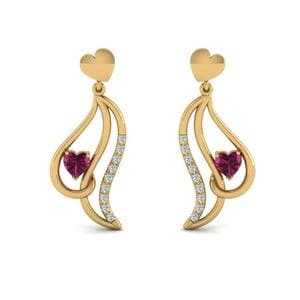 Yellow Gold Drop Earring