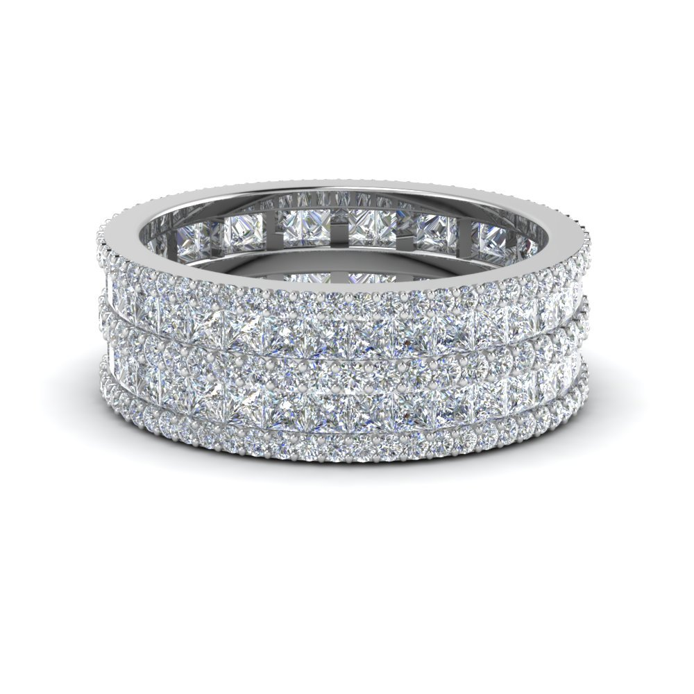 2.50 Ctw. Princess And Round Diamond Eternity Band