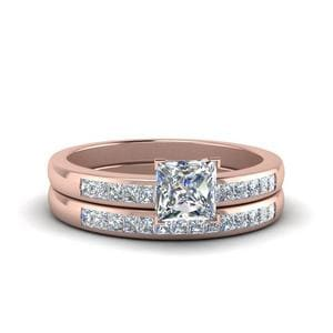Channel Princess Cut Wedding Set