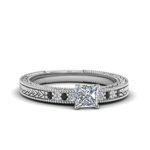 Princess Cut Platinum Ring