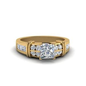 Bar Channel Set Wide Diamond Ring