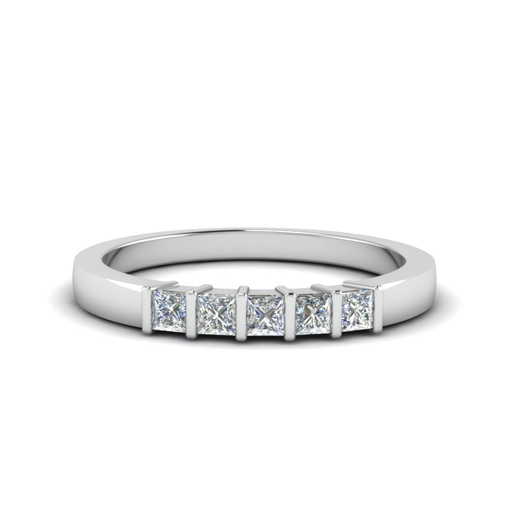 0.30 Ct. Princess Cut Bar Band