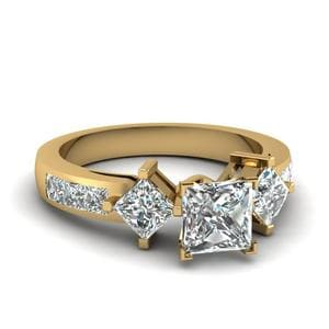 Square Accent Diamond Ring