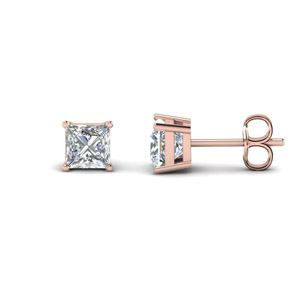 Princess Cut Diamond Earring 3 Carat