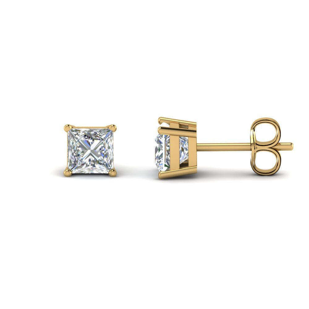 3 Carat Diamond Princess Cut Earring