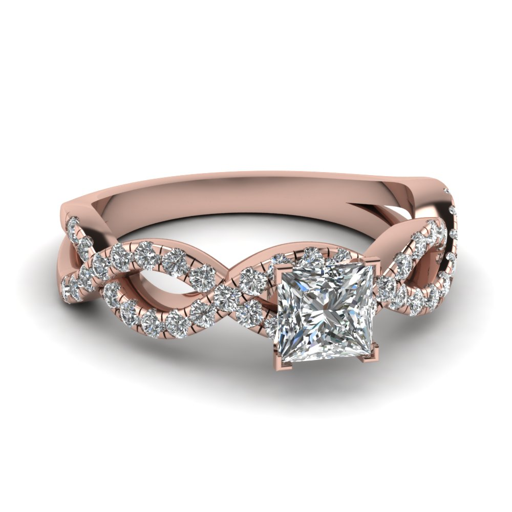 princess cut infinity diamond ring