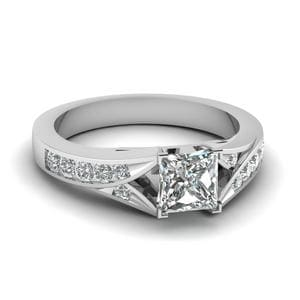 Channel Split Shank Diamond Ring