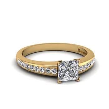 1/2 Carat Princess Cut Channel Ring