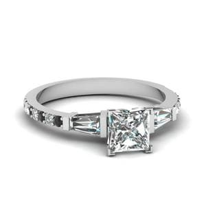 Plantinum Princess Cut Diamond Ring
