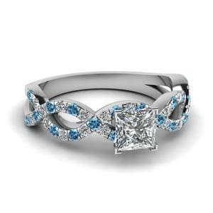 Platinum Blue Topaz Ring