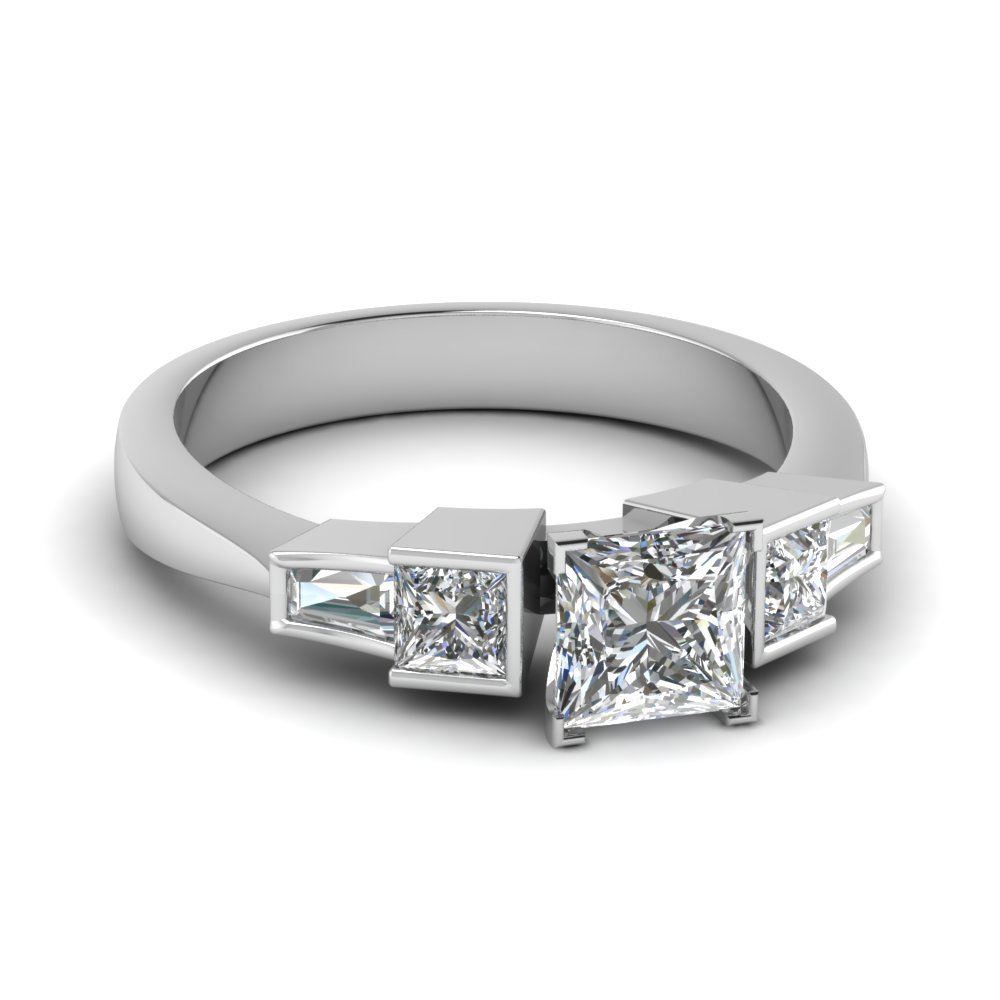 Art Deco Baguette Engagement Ring