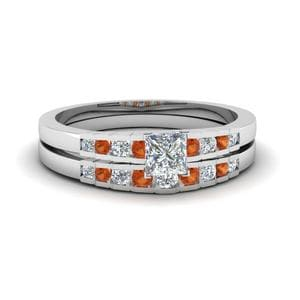 Graduated Accent Diamond Ring Set