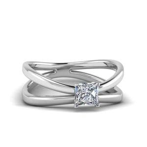 Platinum Princess Cut Diamond Ring