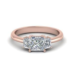 Trapezoid Princess Cut Diamond Ring