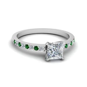 Delicate Band Emerald Ring