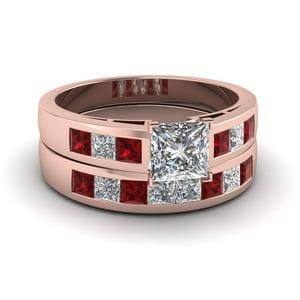 Princess Cut Ring And Band