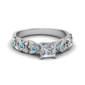 Topaz Flower Engagement Ring