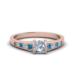 Rose Gold Topaz Diamond Ring