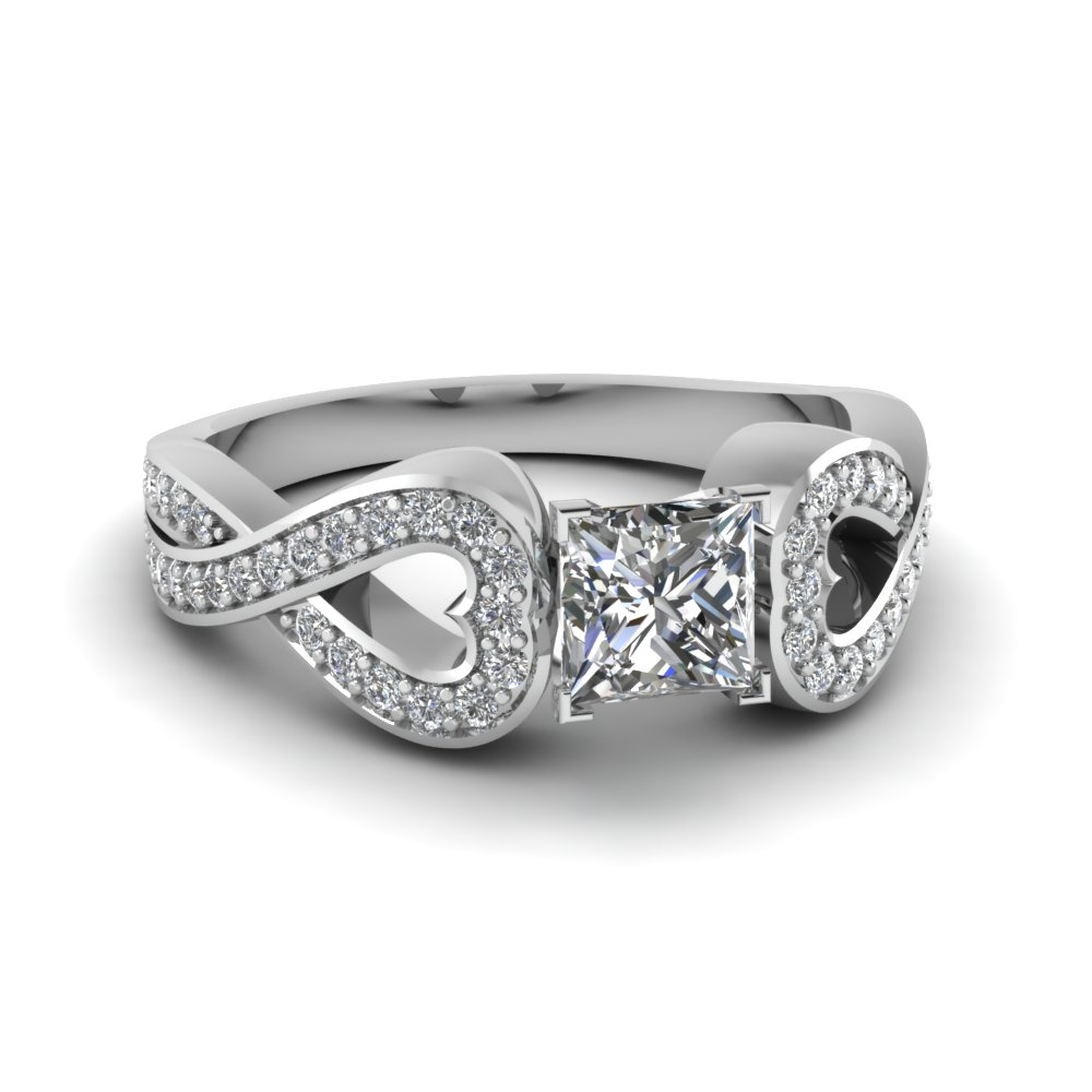 Infinity Entwined Diamond Ring