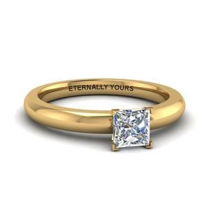 Engraved Princess Diamond Ring