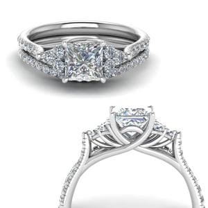 Petite Cathedral Wedding Set
