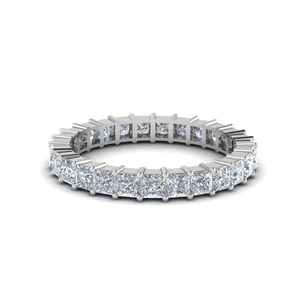 2 Carat Princess Cut Shared Prong<br> Diamond Band