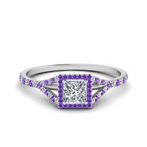 Purple Topaz Square Split Ring