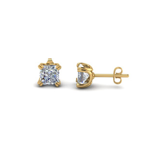 Princess Cut Stud Diamond Earring