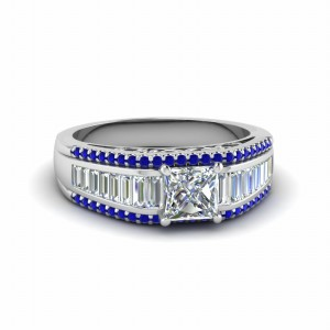Princess Cut Wide Shank Ring